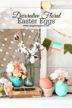 Add a pop of color to your neutral spring Farmhouse decor with these DIY Decorative Floral Easter Eggs.