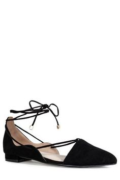Buy Black Ghillie Point Ballerina Shoes from the Next UK online shop