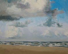 """Sky by Beach"" original fine art by Randall Cogburn"