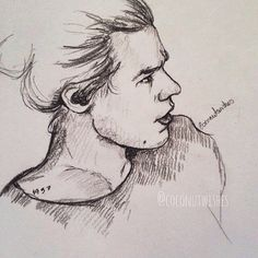 Quick sketch. Harry Styles. Coconut wishes.