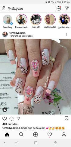 Top Nail, Manicures, Nails Inspiration, Nail Art Designs, Nailart, Hair, Beauty, Nail Jewels, Gel Nail
