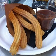 Churros with chocolate sauce ♡