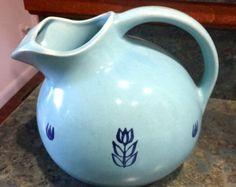 Vintage Hocking Vitrock Glass Flower Pot Design by LeftoverStuff
