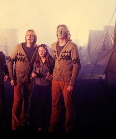 Fred, George, and Ginny Weasley