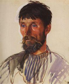 Portrait of a Peasant I.D. Golubeva, 1914  Zinaida Serebriakova