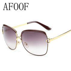 [ AFOOF ≧ ] New Fashion Big Frame Sunglasses Brand Designer Vintage Women ᗕ Sun glasses Retro Eyewear Goggle UV400 Oculos de sol (0_*) [ AFOOF ] New Fashion Big Frame Sunglasses Brand Designer Vintage Women Sun glasses Retro Eyewear Goggle UV400 Oculos de sol (0_^)