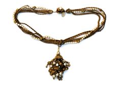 Miriam Haskell Tassel Necklace
