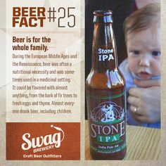 """Beer """"Fact"""" #25. While it's a very cool fact (and picture) we definitely don't support giving your kids beer! It was the Middle Ages for a reason..."""