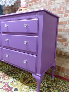 SIMPLE REDESIGN - CUSTOM FURNITURE PAINTING - GRAND RAPIDS, MI: PORTFOLIO purple dresser #colorfurniture