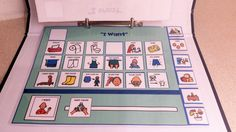 6 Communication Boards with detachable visuals great, for students with limited verbal skills!