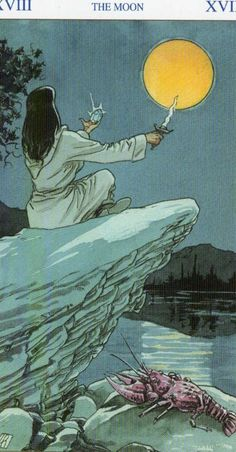 ✯ The Moon - the Pagan Tarot Deck :: By Gina M Pace ✯ Find out what the Moon means for you: www.tarotbyemail.com