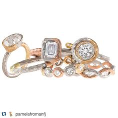 Absolutely love the seamless blend of metals!!  #Repost @pamelafromanfj with @repostapp. ・・・ Sometimes you just want more that one color gold! #mixedmetals #colormegold #gold #lovegold #18k #whitegold #yellowgold #rosegold #pinkgold #greengold  #diamonds #stackrings #stackingrings #mixitup #wantsomethingdifferent #alternative #nothingisordinary #somethingdifferent #wedding #engagement #crushes #mccaskillandcompany