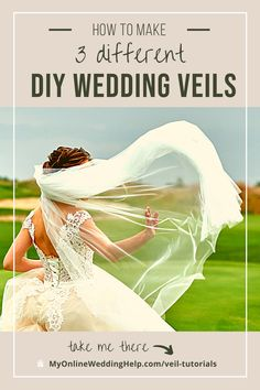 Are you thinking about making your own wedding veil? Here you will find DIY wedding veil tutorials for different veil styles. Diy Wedding Veil, Dream Wedding, Different Wedding Ideas, What To Wear To A Wedding, Guest Book Alternatives, Blusher, Wedding Planning Tips, Wedding Photography, Photography Ideas