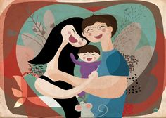 family with baby by vireta