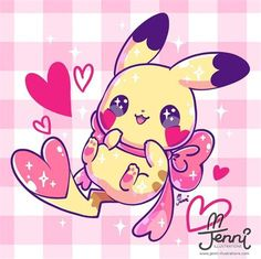 Cute Kawaii Animals, Cute Animal Drawings Kawaii, Cute Cartoon Drawings, Girl Drawings, Manga Kawaii, Kawaii Art, Cute Pokemon Wallpaper, Kawaii Wallpaper, Pikachu Drawing