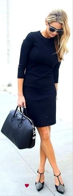 Cannot go wrong with black. The t-strap shoes with unexpected detail add interest.