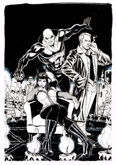 Justice League Dark- Constantine, Deadman, & Zatanna
