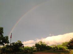 Spring showers rainbow!!!