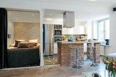Rustic Kitchen Small Apartment Design