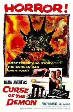 La noche del demonio Horror Movie Posters, Sci Fi Horror Movies, Classic Movie Posters, Classic Horror Movies, Scary Movies, Retro Posters, Classic Films, Horror Art, Cummins