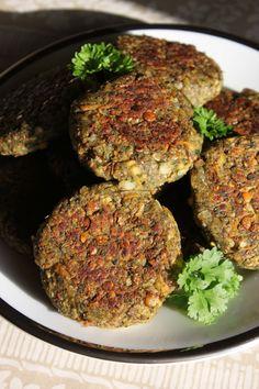 Vegan nettle 'meatballs'.