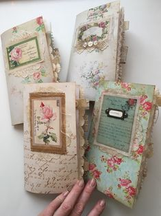 Shabby chic travelers notebook collection. Available at Journal Boutique on Etsy