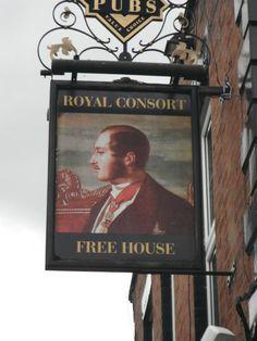 Prince Albert themed pub sign