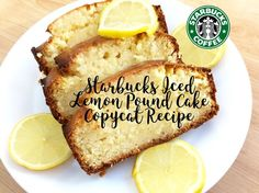 Starbucks Iced Lemon Pound Cake Copycat Recipe : 4 Steps (with Pictures) - Instructables Iced Lemon Pound Cake, Copycat Recipes, Great Recipes, Yummy Recipes, Easy Desserts, Starbucks, Deserts, Yummy Food, Baking