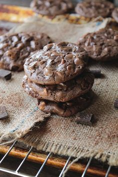 Chocolate Butterscotch Cookies | www.diethood.com | Thin, rich, decadent chocolate cookies with butterscotch chips for your chocolate-lovin Valentine | #recipe #chocolate #cookies