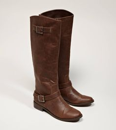 AEO Buckled Riding Boot in Brown | $79.95 American Eagle Online Exclusive {These are just what I'd love for Fall!}