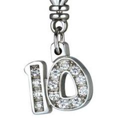Diamond Charm Necklace Bracelet Number