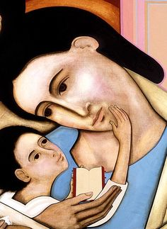 HOLY FAMILY DEPICTED IN PAINTING BY CANADIAN ARTIST MICHAEL D. O'BRIEN