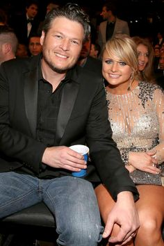 Blake Shelton Miranda Lambert love them seperste & as a couple they are both so sweet & jus good celebs