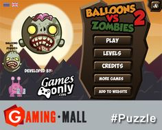 #puzzlegames via #GamingMall..Play Balloons vs. Zombies 2..Kill all the dead guys and save those who are alive..http://ow.ly/yM66d
