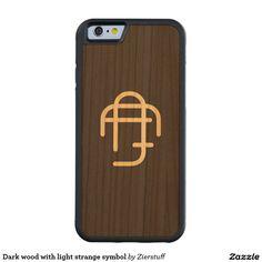 Dark wood with light strange symbol carved® cherry iPhone 6 bumper