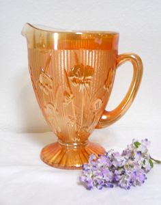 Hey, I found this really awesome Etsy listing at https://www.etsy.com/listing/189196674/vintage-iris-and-herringbone-pitcher