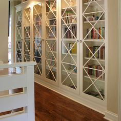 Built-in Bookcases Glass Design,