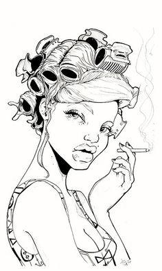 Miss Led, a street pop artist.