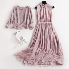 New autumn and winter deuce Euro-American fashion popular elegant dress with pullover