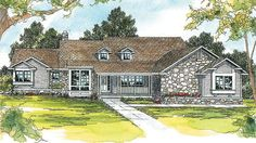 Eplans Country House Plan - Three Bedroom Country - 2744 Square Feet and 3 Bedrooms from Eplans - House Plan Code HWEPL58327