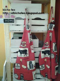 grembiuli in cotone stampato http://elbichofeo.blogspot.com