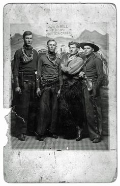 Vintage cowboy buddies Wild Bill from Bitter Creek