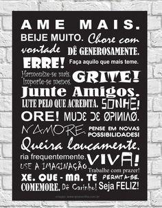 Placa Decorativa Frases: Ame Mais! | Q!Maravilha | Elo7