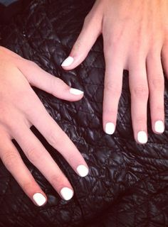 White hot nails by Essie backstage at Nanette Lepore! #TRESmbfw #mbfw