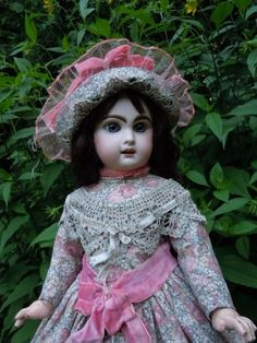 Beautiful Old Dress Hat BEBE Costume for Antique French Jumeau Steiner Doll | eBay