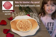 Get your pancake mold to make this Valentine's Day extra special with a pancake like you've never seen! Visit us at www.PancakePresents.com