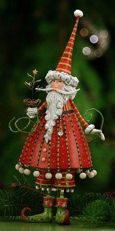 Patience Brewster Krinkles Dashing Santa Figure