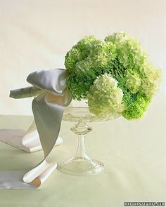 Green and White Laced Bouquet
