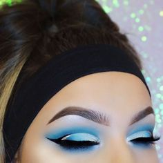 WEBSTA @ mmtmakeup_ - Blueee w/ some graphic liner Inspired by @aniserux_mua ••BROWS:@anastasiabeverlyhills dipbrow pomade soft brownEYES:@bhcosmetics take me to Brazil palette@nyxcosmetics black vinyl liner, gold glam liner@sosu_bysuzannejackson Paris glam lashesFACE:@catrice.cosmetics HD liquid coverage foundation, camouflage concealer@anastasiabeverlyhills Moonchild glow kit@katvondbeauty Shade Light contour palette
