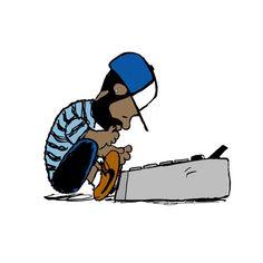 hip-hop peanut gallery, hard at work!